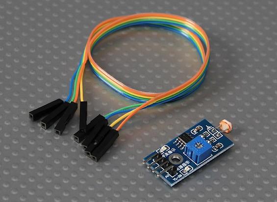 ケーブルとKingduino光センサモジュール