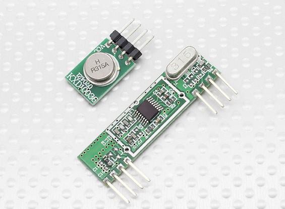 スーパーヘテロダイン3400ワイヤレス受信機モジュールと315RFワイヤレストランスミッター