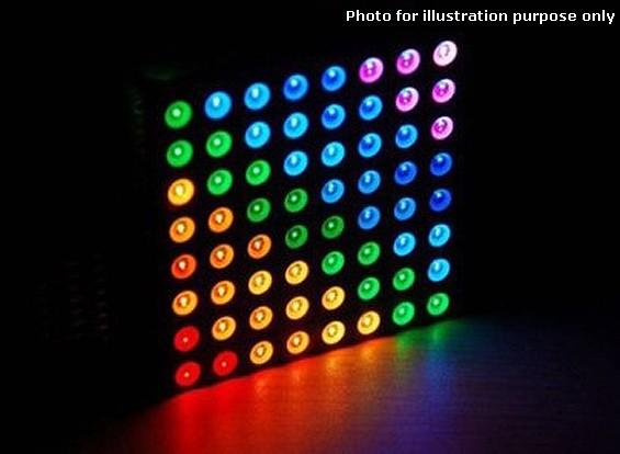 LEDマトリックス8x8の - トリプルカラーRGB共通アノード表示