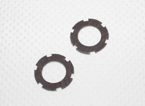 スリッパークラッチプレートセット(2個/袋) -  1/10 Quanumバンダル4WDレーシングバギー