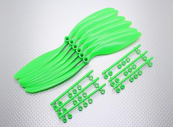 GWS EPプロペラ(RD-9047の228x119mm)、緑(6PCS /セット)