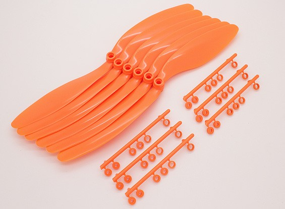 GWS EPプロペラ(RD-1047の254x119mm)オレンジ(6PCS /セット)