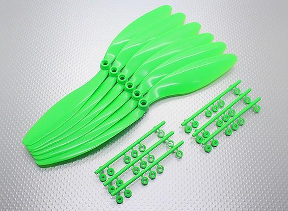 GWS EPプロペラ(RD-1047の254x119mm)、緑(6PCS /セット)