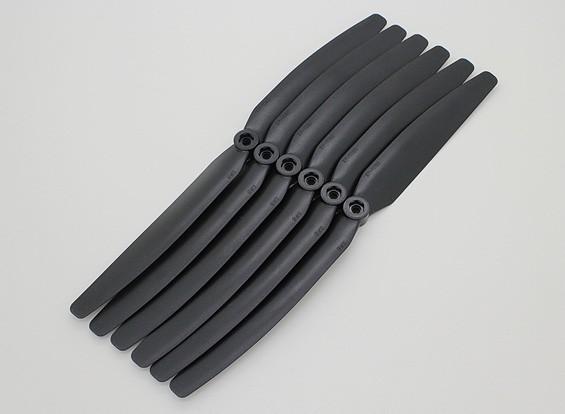 GWS EPプロペラ(DD-1060 254x152mm)、ブラック(6PCS /セット)