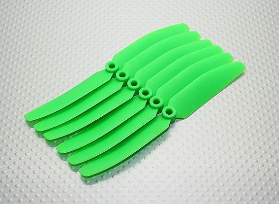GWS EPプロペラ(DD-5043の125x110mm)、緑(6PCS /セット)