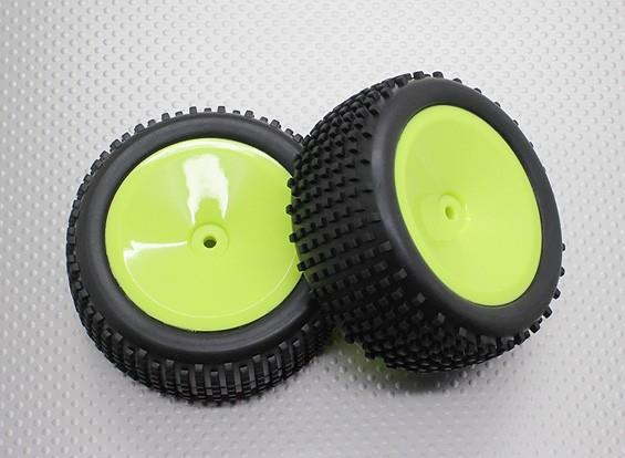 リアバギータイヤセット(皿リム) -  1/10 Quanumバンダル4WDレーシングバギー(2個)