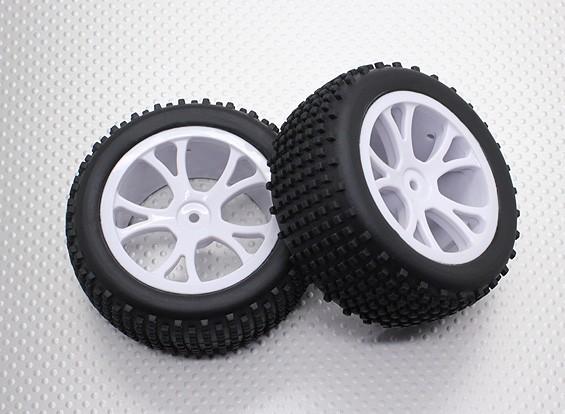 リアバギータイヤセット(スプリット5スポーク) -  1/10 Quanumバンダル4WDレーシングバギー(2個)