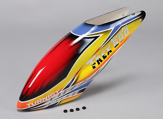 トレックス600ニトロProのTurnigyハイエンドグラスファイバーキャノピー