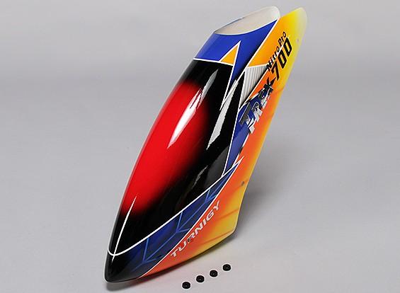 トレックス700ニトロProのTurnigyハイエンドグラスファイバーキャノピー
