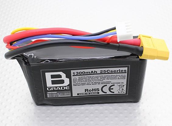 Bグレード1300mAh 3S 25C Lipolyバッテリー
