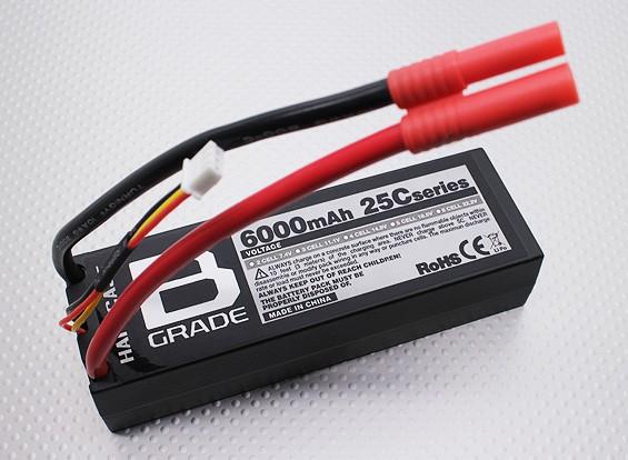 B級6000mAh 2S 25C Lipolyバッテリー