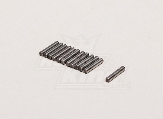アクスルピン2x9.5mm(個入り/袋) -  Turnigyトレイルブレイザー1/8、XBおよびXT 1/5