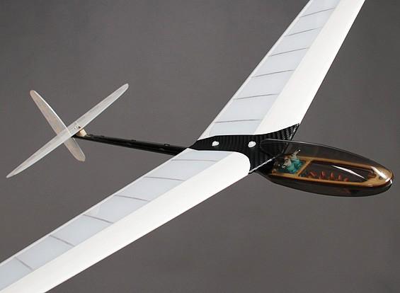ミニDLGコンポジットディスカス起動グライダー - ブルー/ホワイト950ミリメートル(PNF)