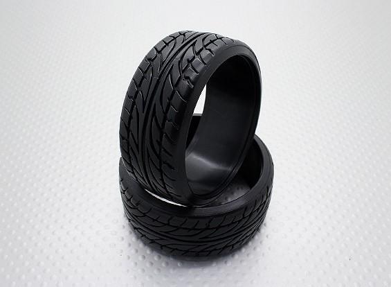 1時10スケールのハードプラスチック化合物CR-ブレードドリフトタイヤ(2個)