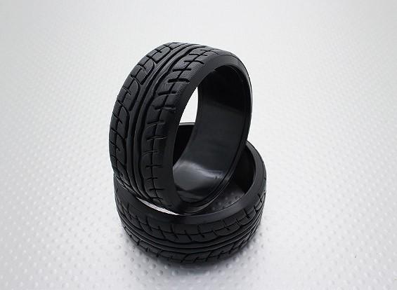 1時10スケールのハードプラスチック化合物CR-JPドリフトタイヤ(2個)