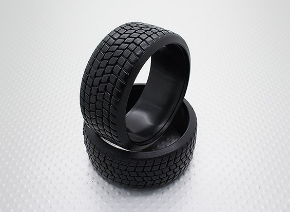 1時10スケールのハードプラスチック化合物CR-スクエアドリフトタイヤ(2個)