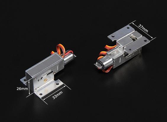 TurnigyフルメタルServoless 90度リトラクトセット(モデル用3キロまで)