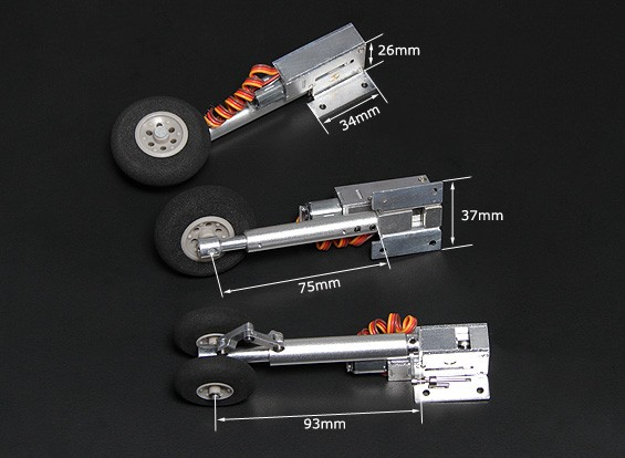 TurnigyフルメタルServolessはオレオ脚(三輪車、F-4型)で取り消します