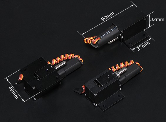 TurnigyフルメタルServoless 90度は、操縦可能なノーズアセンブリ(6ミリメートルピン)/ wを取り消します