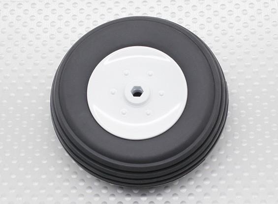 Turnigy 65ミリメートルプラスチックホイール/ゴムタイヤ4ミリメートルアクスル