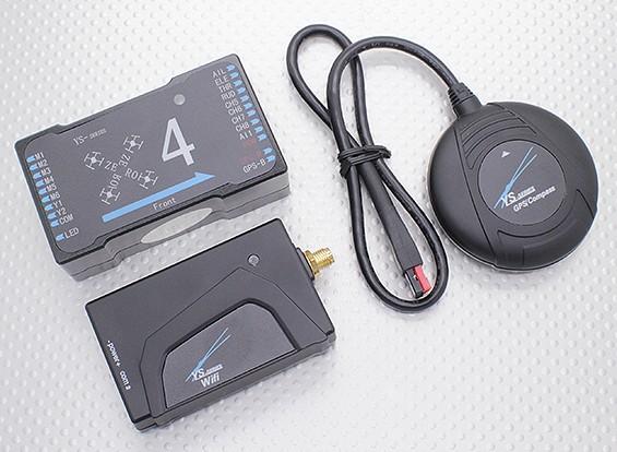 マルチローター用ZeroUAV YS-X4オートパイロット、GPS飛行制御システム(のWi-Fi版)