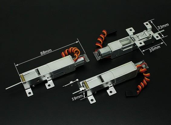 ステアリング前輪とTurnigy 90度すべての金属三輪車リトラクトシステム(AUW最大2キロのモデル)
