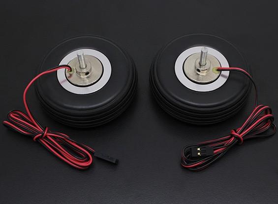 """Turnigy電気磁気ブレーキシステム66ミリメートル(2.5 """")ホイール(2PC)"""