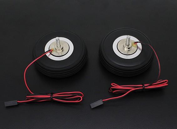 """Turnigy電気磁気ブレーキホイール(ノーコントローラ)72ミリメートル(2.5 """")ホイール(2PC)"""