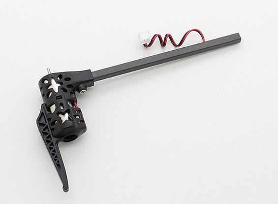 モーターワット/マウントおよび完全ブーム(時計回り) -  QRインフラXマイクロクワッドローター