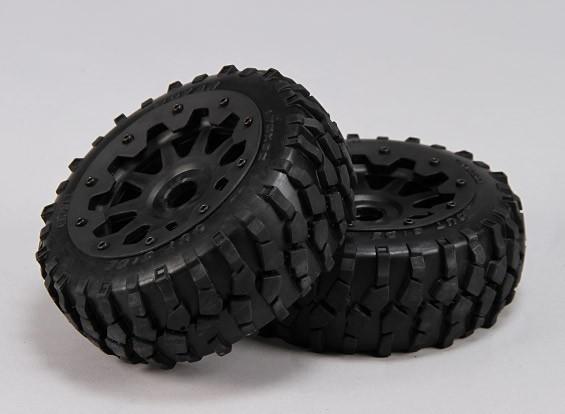 フロントMacaamタイヤ/ホイールコンプリートセット -  1/5バハ260と260S