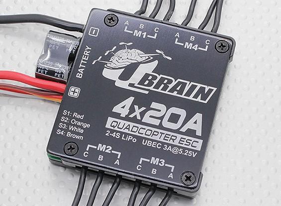 Q脳4×20AブラシレスクワッドローターESC 2-4S 3A SBEC