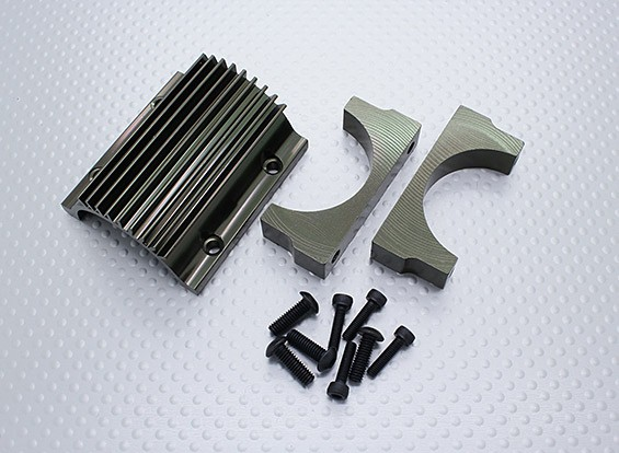 モーターマウントと冷却フィンセット - ニトロサーカスバッシャー1/8スケールモンスタートラック