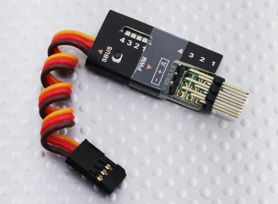 PWMデコーダへFrSky 4チャネルS.BUS