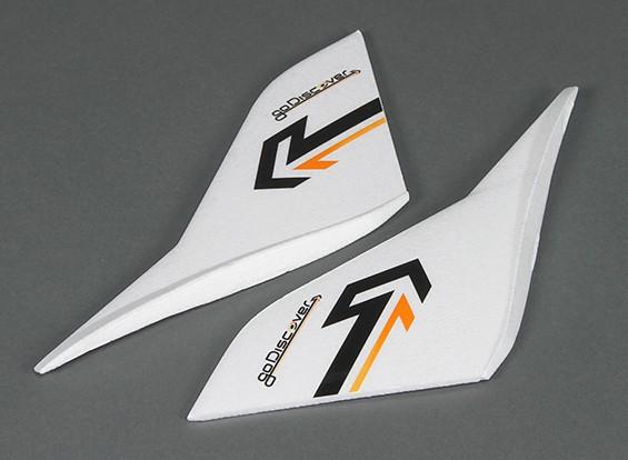 HobbyKingゴーディスカバーFPV 1600ミリメートル - 交換垂直ウィング