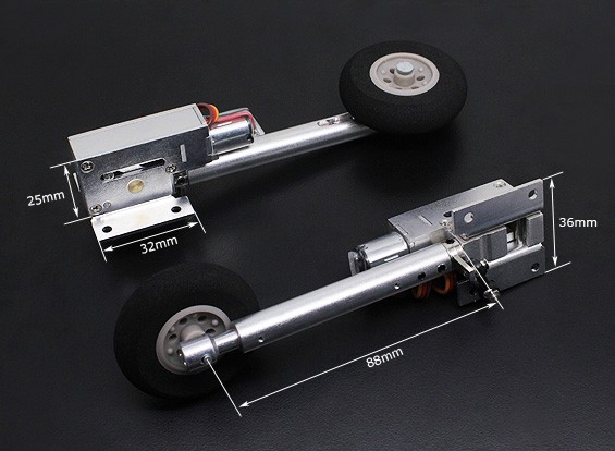 TurnigyフルメタルServoless 100度ツイストnは88ミリメートルオレオ脚(2個)で後退するを回し