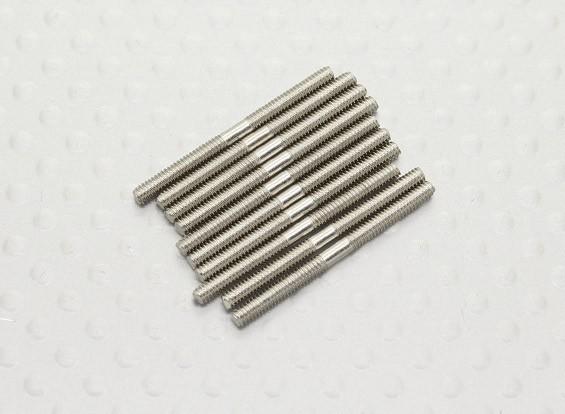 本のM2 x 25ミリメートルスチールプッシュロッド(10PC)