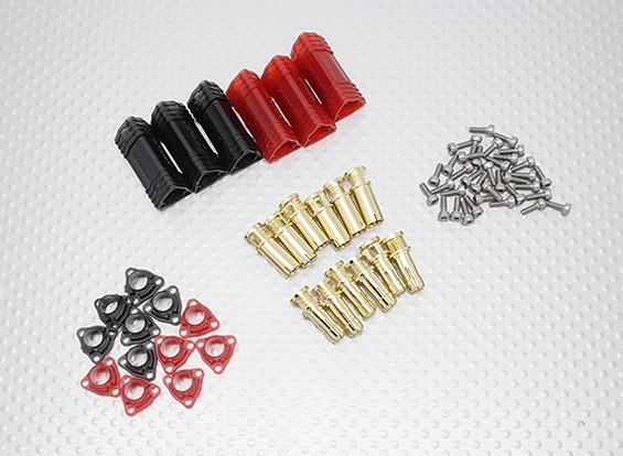 5ミリメートルRCPROPLUSスープラXゴールドブレット極性付きコネクタセット(3組)