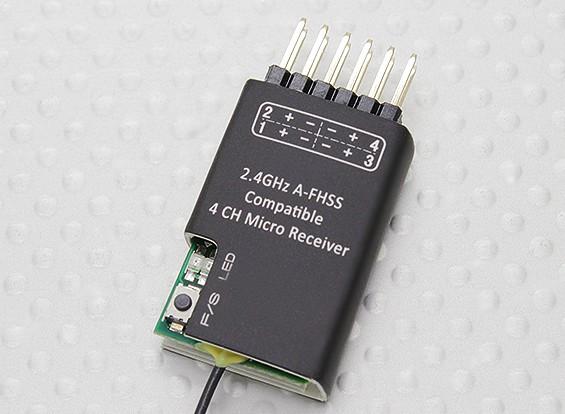 2.4GHzののA-FHSS互換性4CHマイクロレシーバ(ハイテックミニマ互換)