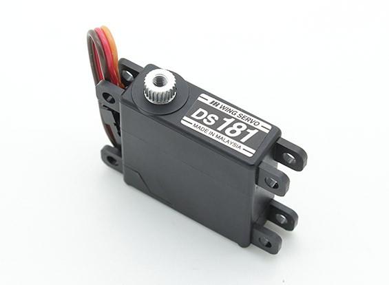 メタルギア4.3キロ/ 0.16sec / 22グラムとJR DS181ミニウイングサーボ