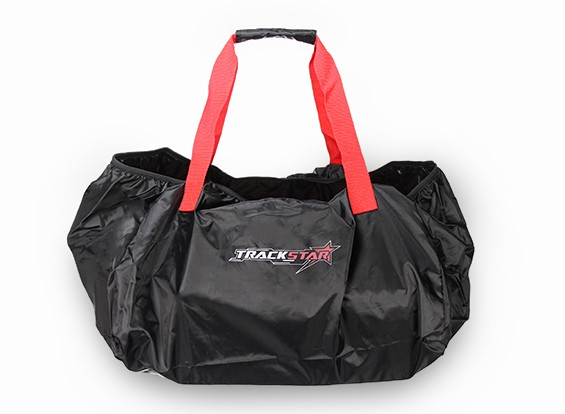TrackStar 1/10スケールカーバッグ(レッド/ブラック)キャリー