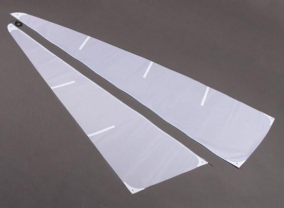 グラスファイバーRCヨットヨットモンスーン - セイルセット(2個)