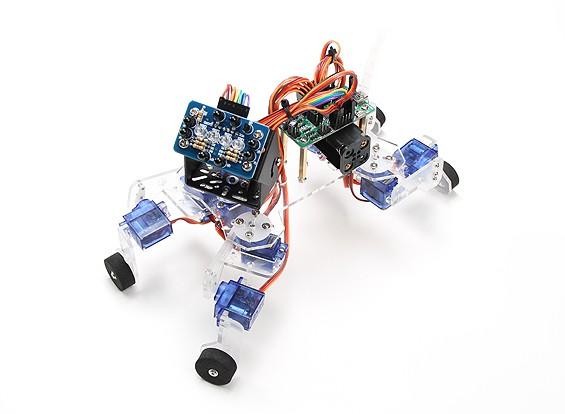 ATmega8コントロールボードやIRセンサーと遊び心の子犬ロボットキット