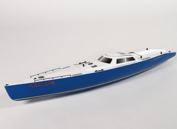 レーシングヨットの2.2メートルを行くRCオーシャン - ハル(サーボ2個を含みます)