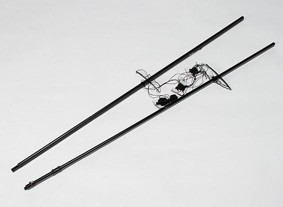 レーシングヨットの2.2メートルを行くRCオーシャン - マストセット