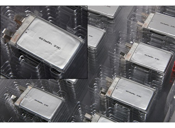 ジッピー450mAh 20C単一のセル