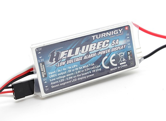Turnigy 3イン1ヘリ5A UBEC&低電圧アラーム(3〜6S)
