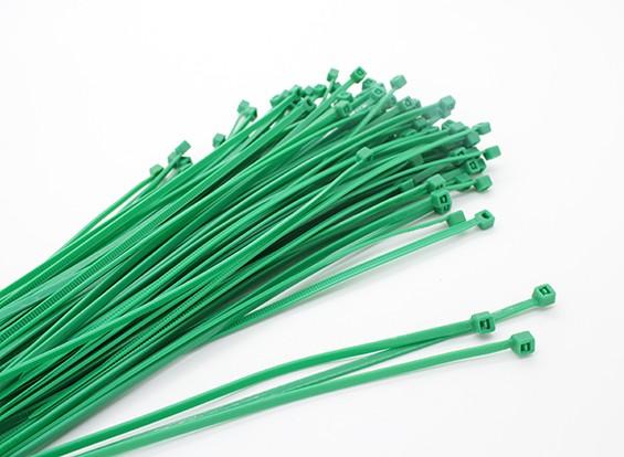 ケーブルタイ160×2.5ミリメートルグリーン(100本)