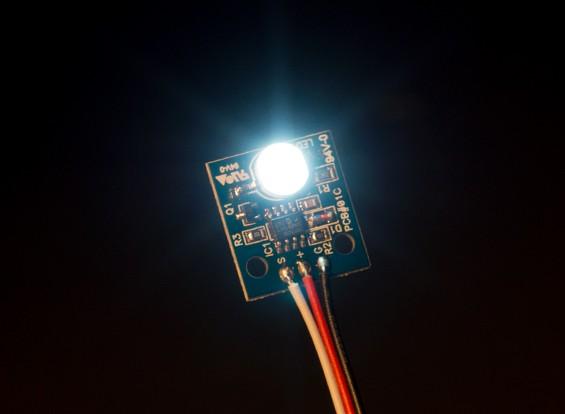 ホワイトHobbyking LED PCBストロボボール(12V)