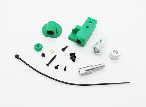 RotorBitsギア/ワットサーボマウントセット(グリーン)