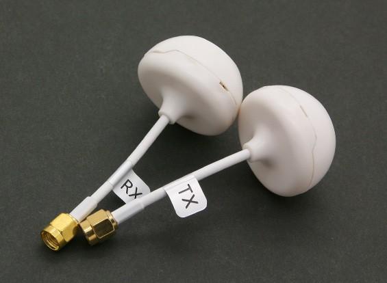 トランスミッタおよびレシーバ用のカバー付き5.8GHz帯円偏波アンテナ(SMA)(RHCP)(UK)